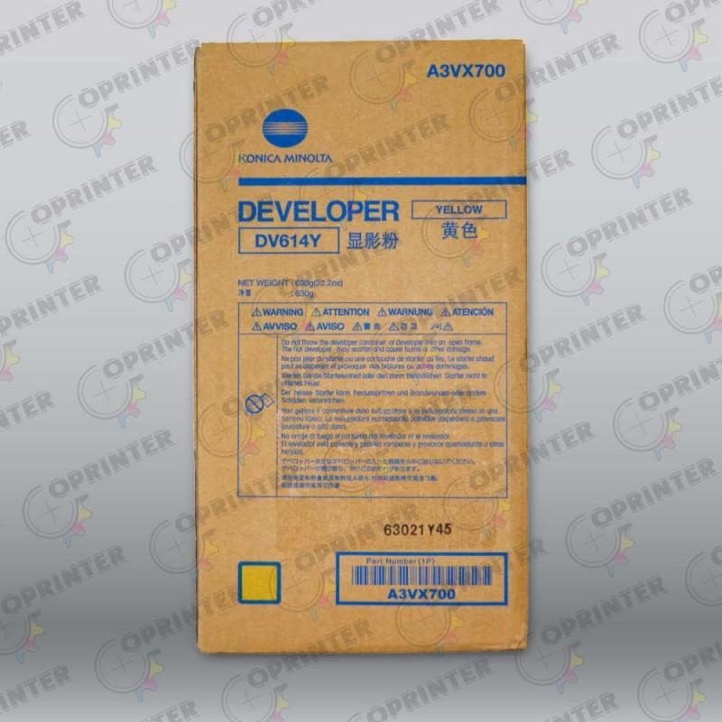 Девелопер DV-614Y желтый Konica Minolta A3VX700