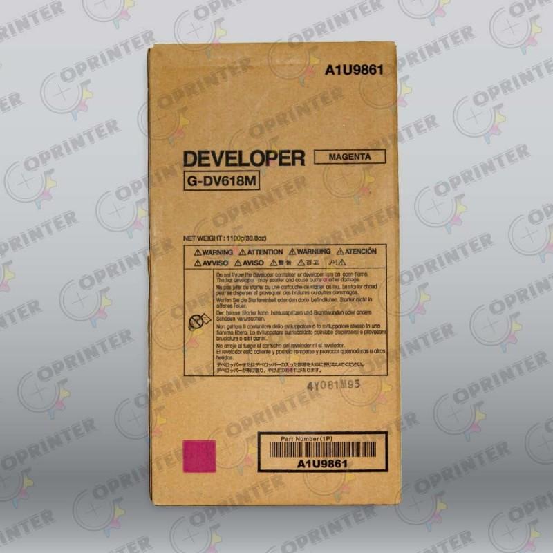 Девелопер DV-618M красный Konica Minolta A1U9861